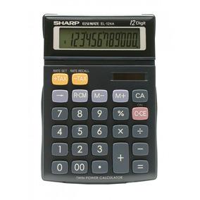 Calculadora De Mesa Sharp 12 Dígitos El124a