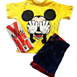 Conjunto Infantil Fantasia Mickey Mouse Menino Promoção