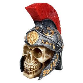 Cranio Caveira Guerreiro Romano Roma Decorativo Resina