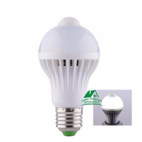 10 Lâmpada Bulbo Led C/sensor De Presença 5w Branco Bivolt