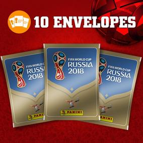 10 Envelopes De Figurinhas Copa Do Mundo 2018 Panini Lacrado