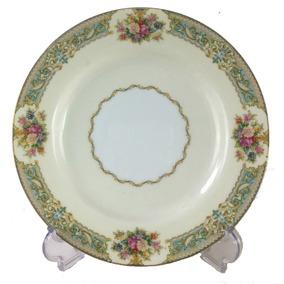 Prato Antigo Sobremesa 19cm Porcelana Japonesa Detalhe Flor