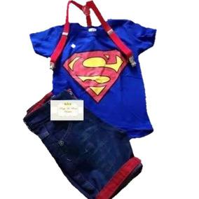 Conjunto Infantil Fantasia Super Homem Heroi Man Vingadores