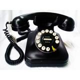 Telefono Antiguo Botones De Color Negro Funcionando