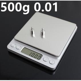 Mini Balança Digital Alta Precisão 0,01g Á 500g Grains Ouro