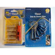 Kit Ferramentas Mini Chave D Fenda Torx+jogo Chave Allen 8pç