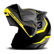 Capacete Moto Protork Escamoteavel Robocop V-pro Jet 3 Loi
