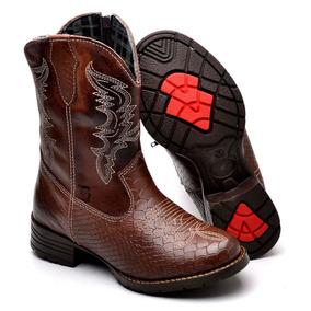 Bota Botina Country Cowboy Couro Criança Adulto Frete Grátis