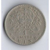 Guinea Portuguesa Moneda De 1 Escudo 1933 Km#5 - Argentvs
