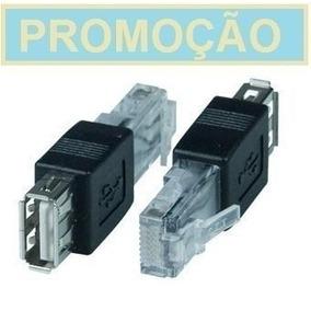 Adaptador Usb Fêmea Para Rede Ethernet 10/100 Rj45 Macho