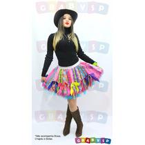 Saia Caipira Festa Junina Modelo Super Luxo - Temos Vestidos