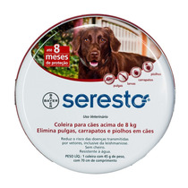 Coleira Seresto Bayer Para Cães Acima De 8 Kg + Brinde