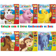 Coleção Conhecendo Os Sons C/ 6 Livros: Fazenda E Floresta