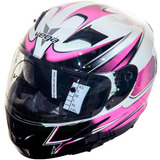 Casco Vega Doble Visor Sa-36 Rosa Chica Damas - En Fas Motos