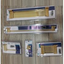 Kit Acessórios Banheiro Dourado 5 Peças - Polo - Deca