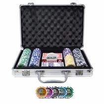 Maleta Poker Profissional 200 Fichas Numeradas Kit Completo