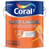 Tinta Coral Super Lavavel Anti Manchas Acetinada Branca 3,6l
