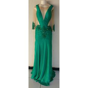 Vestido Longo Sereia Cor Verde