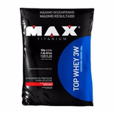 Top Whey 3w - 1,8 Kg - Max Titanium Morango Barato