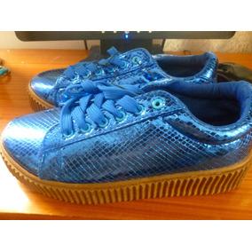 Zapatos Deportivos De Dama Big Star Talla 38 Azul Electrico