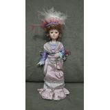 Boneca De Porcelana Dama De Época Antiga