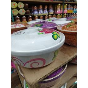 Tortilleros De Barro Decorados 9 Cm