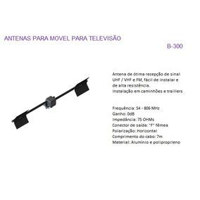 Antena Tv Aquário Para Residencia E Caminhão B300 Vhf.uhf.fm
