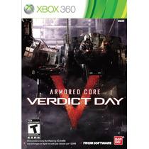 Armored Core Verdict Day Xbox 360 Mídia Física Lacrado