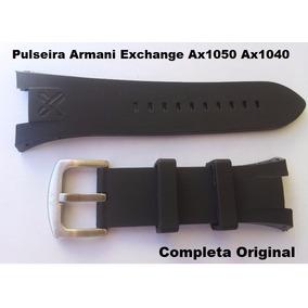 Pulseira Armani Ax1090 Preta P Exchange Ax1114 Ax1281 Ax1110