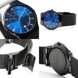 Skagen Reloj Hombre 100% Original Titanio Color Azul/negro