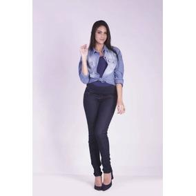 Calça Skinny Básica Jeans Gestante Grávida Cós Elástico Ana