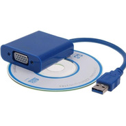 Adaptador De Video Usb 3.0 A Vga Monitor Extendido Proyector