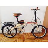 Bicicleta Plegable De Aluminio Rodado 20 X-terra Fx-20 Mst