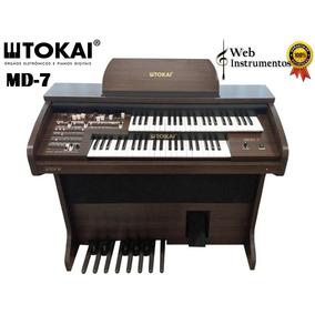 Órgão Tokai Md7 Wengue Marrom Web Instrumentos Sorocaba