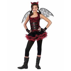 Disfraz Diablo Niña Diablita Dia De Brujas Halloween