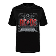 Camiseta Banda Stamp Infantil Ac/dc Black Ice