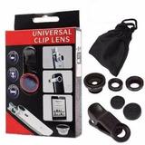 Kit Lentes 3x1 Universal Qualquer Câmera De Celular