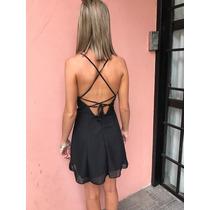 Vestido Corto Espalda Descubierta Tiras