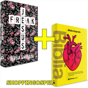 Bíblia Jesus Freak Floral + Bíblia Jesus Copy Coração