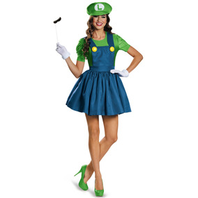 Disfraz Disguise Luigi Falda Para Adulto/adolescente 7-9