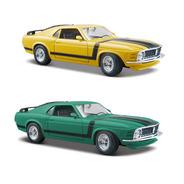 Mustang Boss 302 1970 Amarelo Mais Verde Escala 1 24 Maisto
