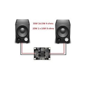 Mini Amplificador Estéreo 2x 15w Pam8610 Frete $9,0 Envio Jà