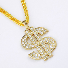 Colar Masculino Estilo Hip Hop Pingente Dólar Millionaire