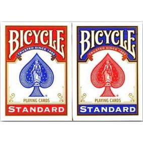 Kit 2 Baralhos Bicycle Standard Poker Truco Vermelho E Azul