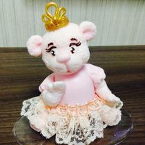 Topo De Bolo Ursinha Princesa