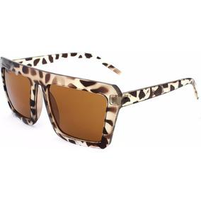 Lindo Oculos De Sol Com Armacao De Oncinha Quadrada Leopardo 0808faa508