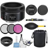 Kit De Lente Canon Ef 50mm F/1.8 Stm 3 Filtros Y Accesorios