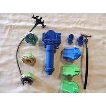 Kit 3 Beyblade + Lançador + Puxador + Chave Cod 17