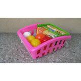Canasto De Compras Con Frutas Y Verduras Molto - Vamosajugar