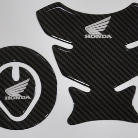 Protetor Tanque 3d Tankpad + Bocal M11 Moto Honda Bros 150